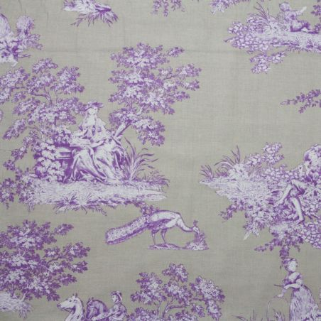 French Cottage Pleasure violet et beige