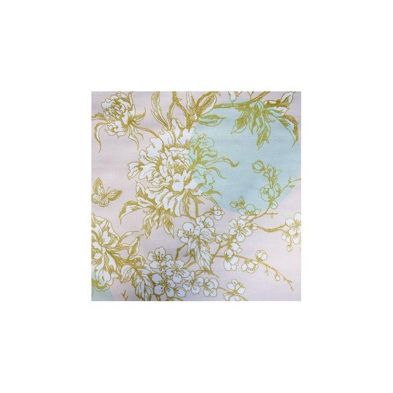 Toile enduite menthe fleur de cerisier or