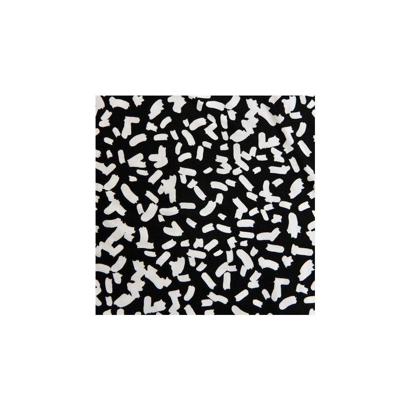 Jersey imprimé noir/blanc