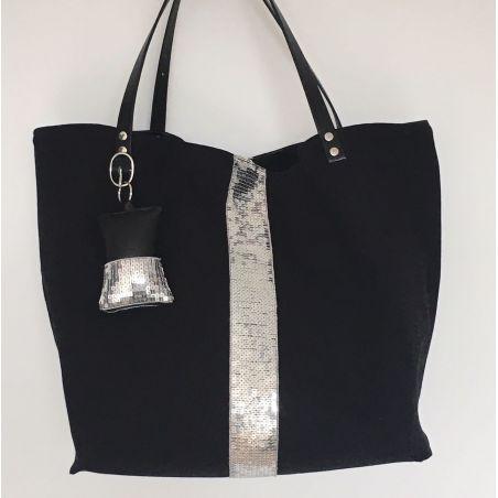 Kit sac paillettes noir