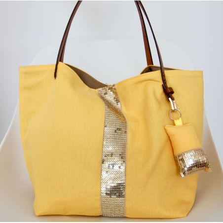 Kit sac paillettes jaune soleil