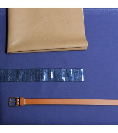 Kit sac paillettes bleu dur