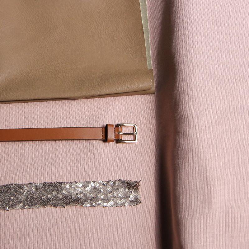 Kit sac paillettes rose poudre