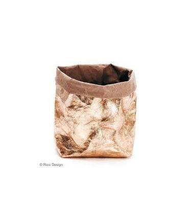 Papier lavable (effet cuir) bronze