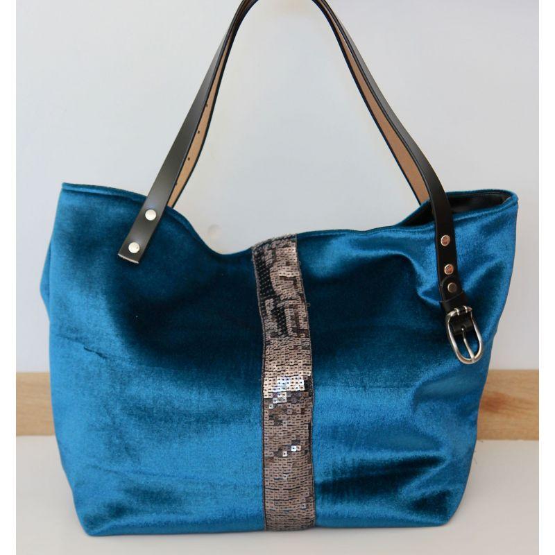 Kit sac paillettes velours canard