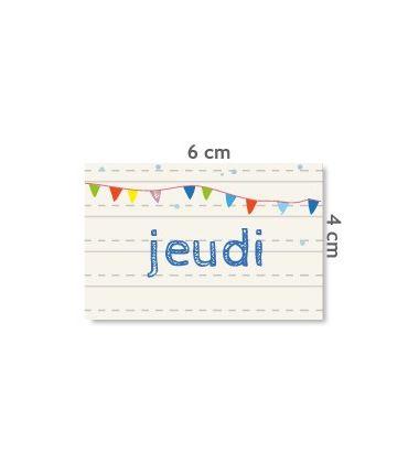 """Label """"jeudi"""""""