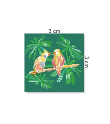 """Etiquette """"petits oiseaux exotiques"""""""