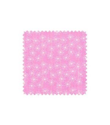 Light Flakes écru sur fluo rose