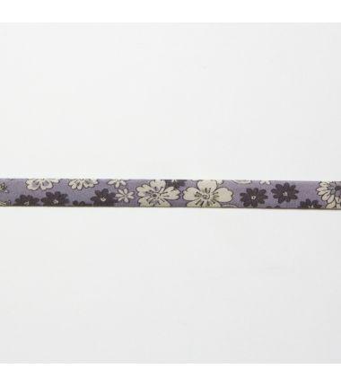 Biaisband bloemen lavendel