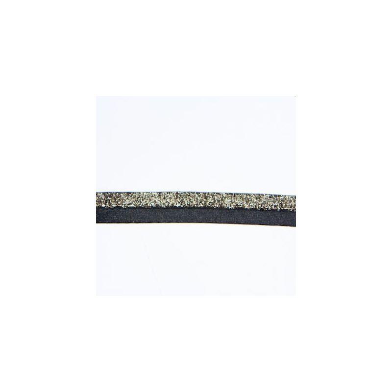 Elastique bicolore noir et or