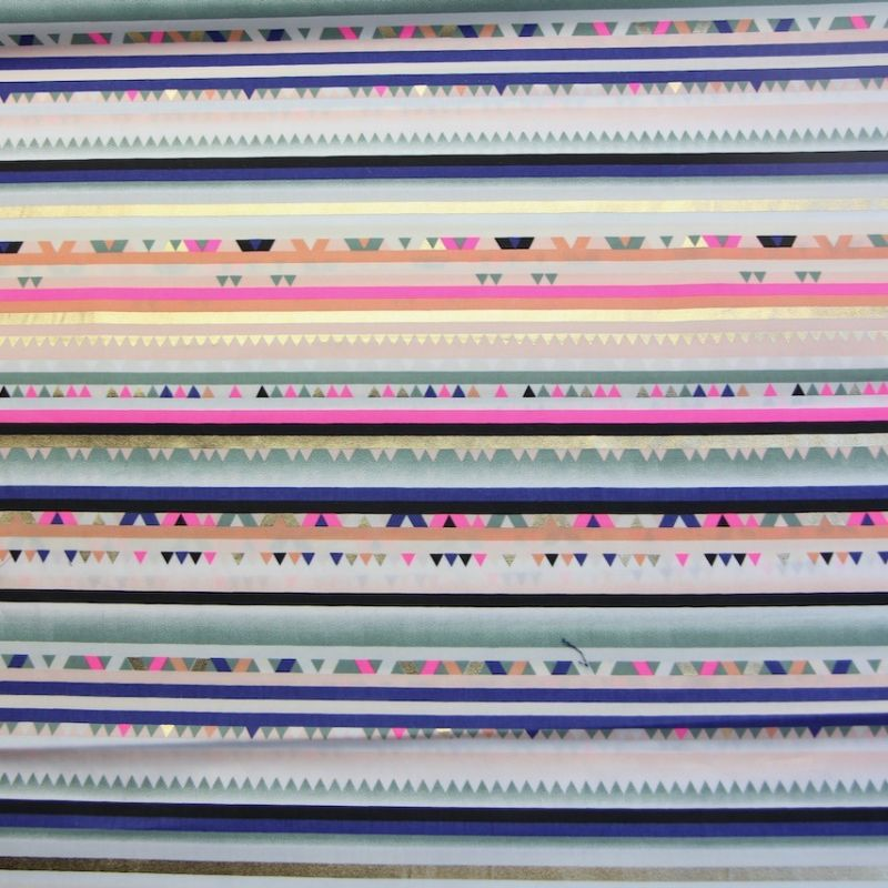 Rico coton multi raies Foil