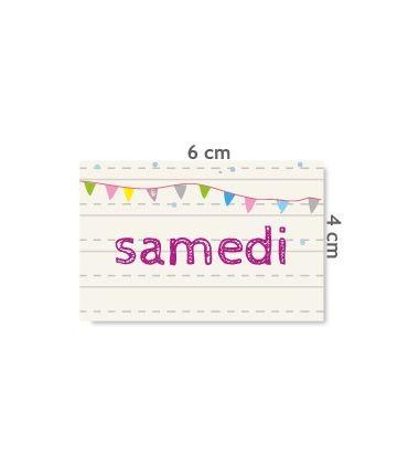 "Label ""samedi"""