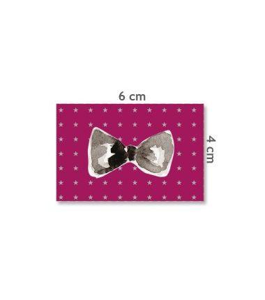 Label vlinderdas