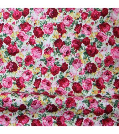 Coton vintage roses
