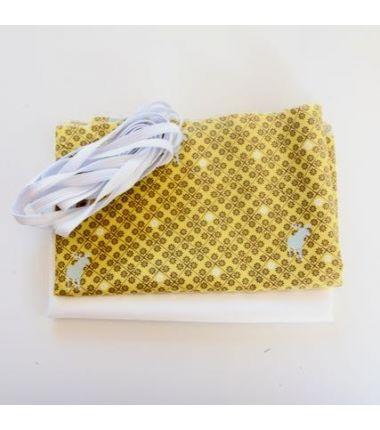 Kit 6 masques à plis jaune