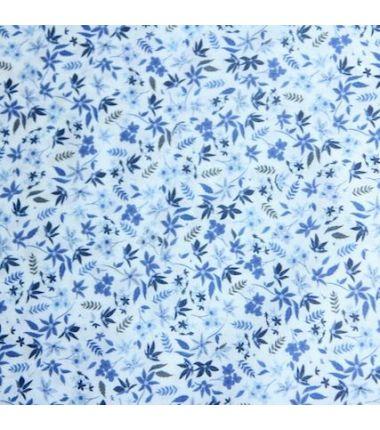 Coton fleurs bleues