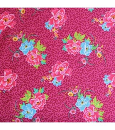 Coton Fleurs fuchsia