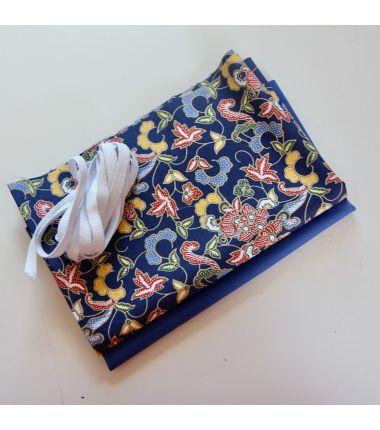 Kit 6 masques à plis Indo bleu
