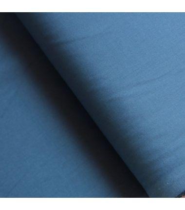 Coton uni bleu jeans