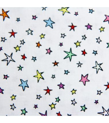 Rico coton étoiles multicolores