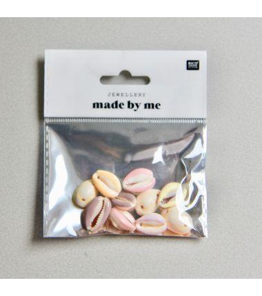 Perle coquillages colorés