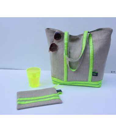 Kit Sac Inspiration Lin fluo jaune