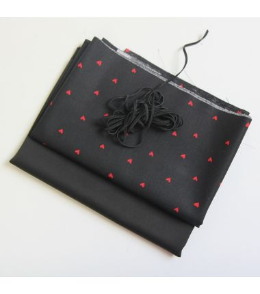 Kit 6 masques à plis noirs...