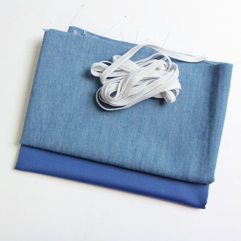 Kit 6 masques à plis jeans