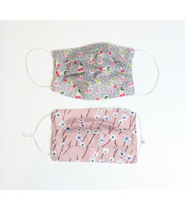 Kit 6 masques à plis fleurs roses Rico