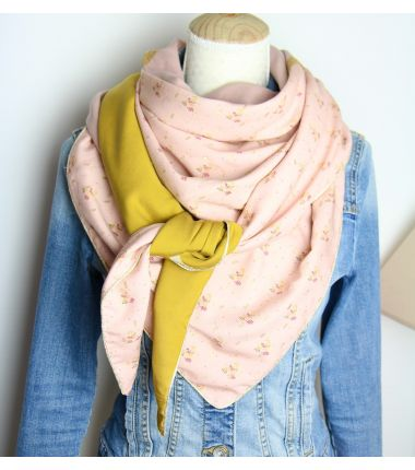 Kit foulard triangle Jane rose
