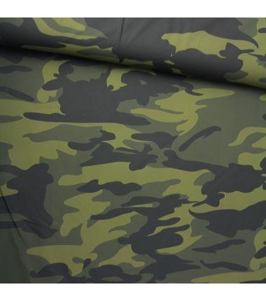 Simili enduit camouflage kaki