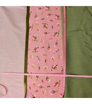 Kit foulard triangle kaki rose