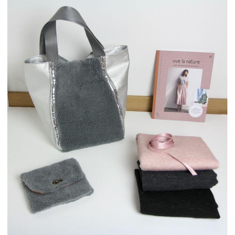 Kit sac pilou gris