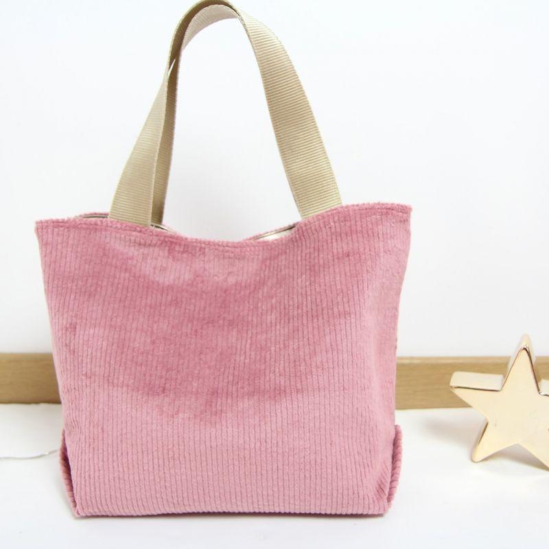 Kit sac velours rose