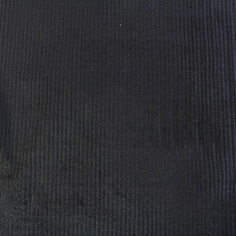 Velours côtelé larges côtes noir