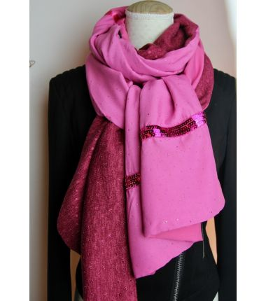 Kit foulard long fuchsia