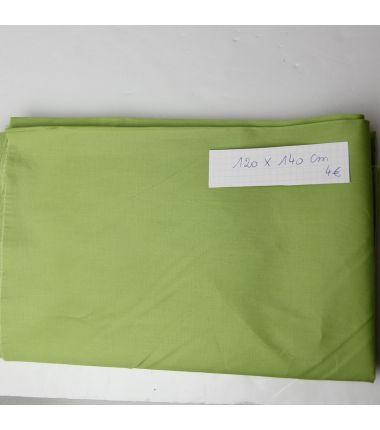 Coupon de coton vert pelouse