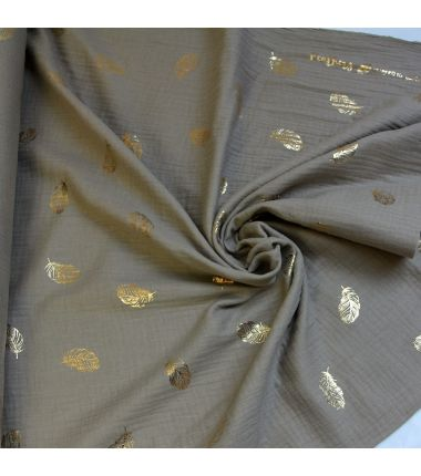 Double gaze taupe feathers or