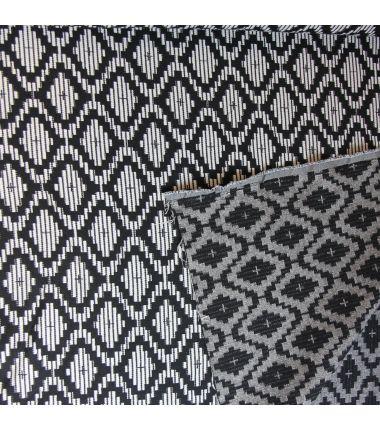 Jacquard losange noir et blanc