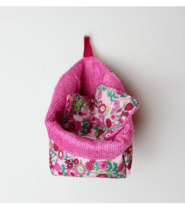 Kit lingettes fuchsia fleuri