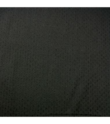Coton plumetis noir