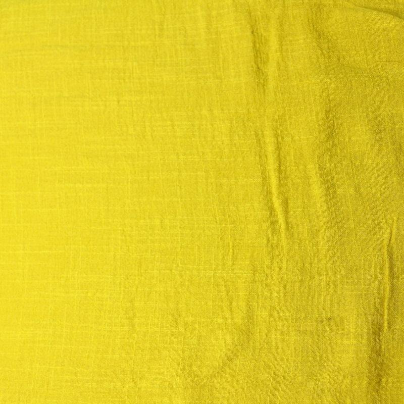 Coton léger jaune flash