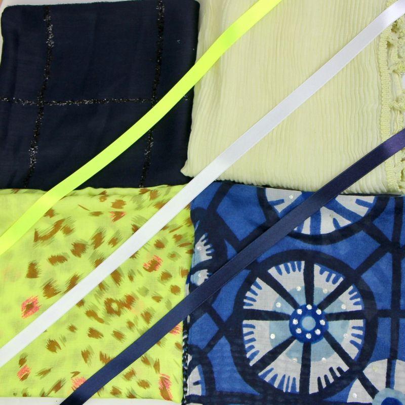 Kit grand foulard carré 34
