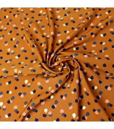 Pearl Peach Spot cognac et or