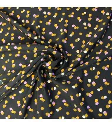 Pearl Peach Spot noir et or