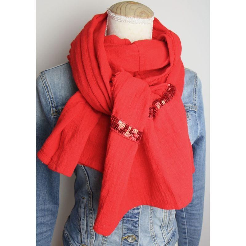 Kit foulard long rouge