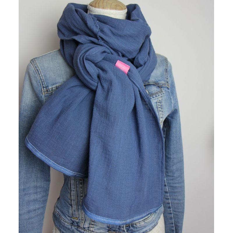 Kit foulard long bleu jeans