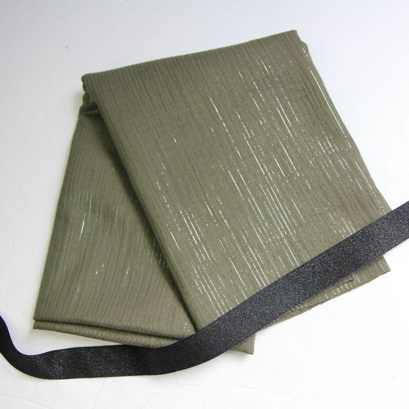 Kit foulard long kaki glitter
