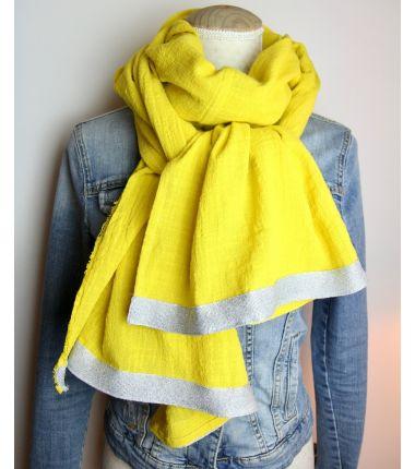 Kit foulard long jaune...