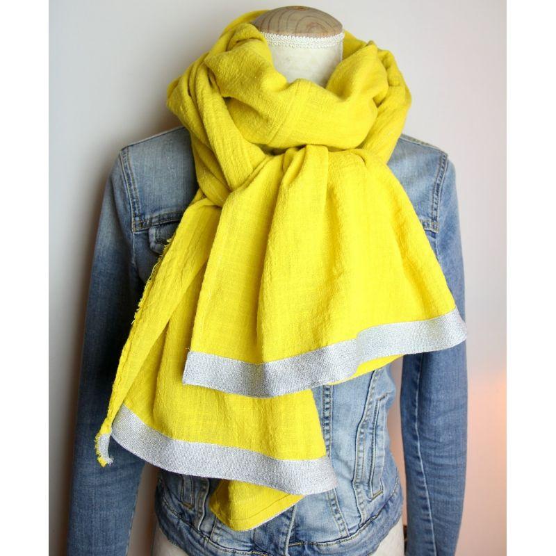 Kit foulard long jaune forsythia